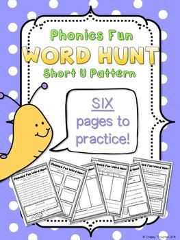 Phonics Fun Word Hunt Pack - Short U Pattern
