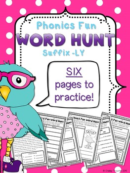 Phonics Fun Word Hunt Pack - Suffix -LY