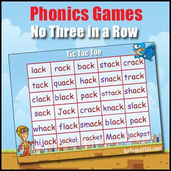 Phonics Game - ack, ain, air, ain & ame, ank, ale & ail, a
