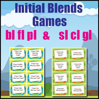 Phonics Games - Initial Blends - bl, pl, fl, sl, cl & gl -