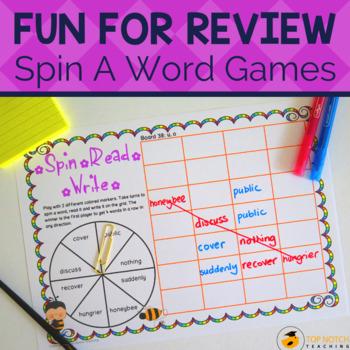 Phonics Games: Spin, Read, Write Set B