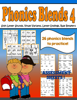 Phonics Group 4- Soft Letter Sounds, Vowel Variants, Endin