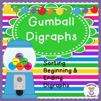 Phonics-Digraphs - Gumball Digraphs