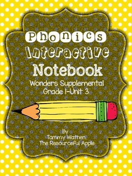 Phonics Interactive Notebook {Wonders Supplemental-Grade 1
