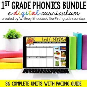 Phonics Interactive Powerpoint: Year Long GROWING BUNDLE