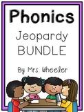 First Grade Phonics: Jeopardy Bundle