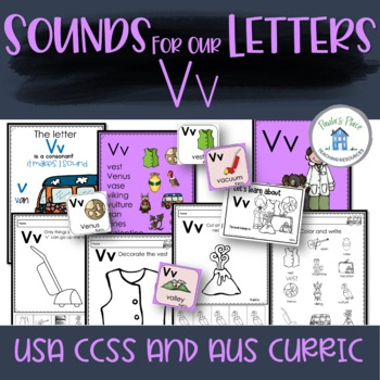 Phonics - Let's Look at the Letter and Sounds for  'Vv'