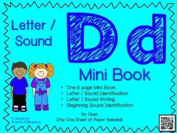 Phonics / Letter D Mini Book Craft