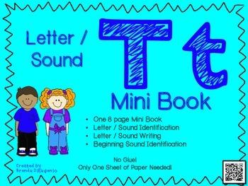 Phonics / Letter T Mini Book Craft