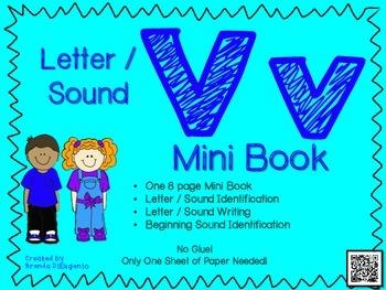 Phonics / Letter V Mini Book Craft