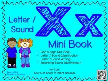 Phonics / Letter X Mini Book Craft