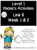 Phonics Level 1 Unit 8