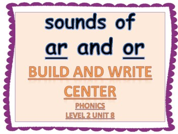 """Phonics Level 2 unit 8: Sounds of """"ar"""" and """"or""""  Build and"""