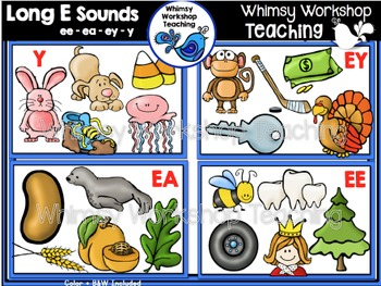Phonics: Long E Sounds Bundle EE EA EY Y - Whimsy Workshop
