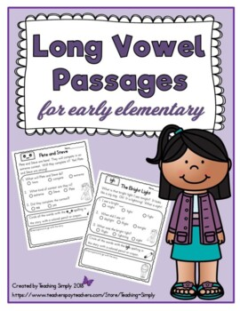 Long Vowel Stories for Early Elementary - Easy - Comprehen