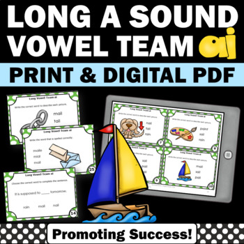 Long Vowels a Team { ai } Phonics Games Activities 1st Gra