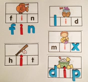 Phonics Making Words Activity Cards (SHORT I)