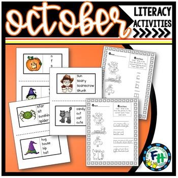 Phonics Match Cards & Activity Sheets (October)
