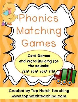 Phonics Matching Games