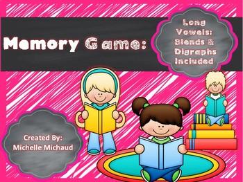 Phonics Memory Game- Long Vowels