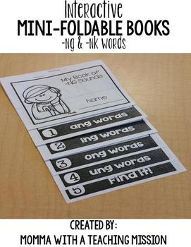 Phonics Mini Flip Book -NG & -NK Words
