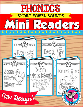 Phonics Mini Readers: Short Vowels