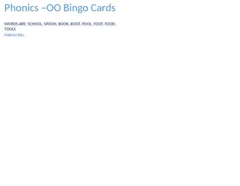 Phonics -OO Bingo Cards