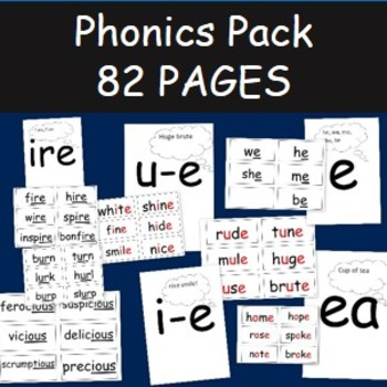 Phonics Pack- 82 pages of speed sounds and sound cards
