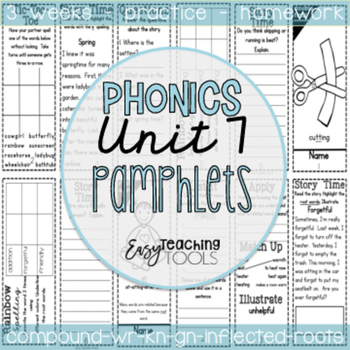 Phonics Pamphlets Unit 7 (inflectional endings, root words