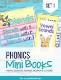Phonics Mini Books, Word Families, Short & Long Vowels, Bl