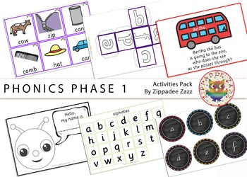 Phonics Phase 1 Activity Resources Pack-81 Printables/Work