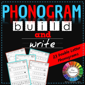 Spalding Phonogram Worksheets (Build and Write – 23 Double
