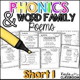 Short I Phonics Poems
