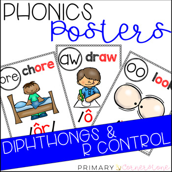Phonics Posters: Diphthongs & R Control