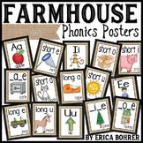 Phonics Posters: Farmhouse Style