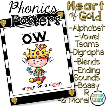 Phonics Posters for Phonemic Awareness and Phonics Activities