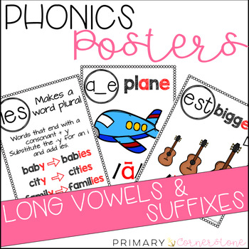 Phonics Posters: Long Vowels & Suffixes