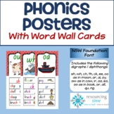 Phonics Posters / Word Wall Cards (NSW Foundation Font)