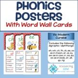 Phonics Posters / Word Wall Cards (Vic Modern Cursive)