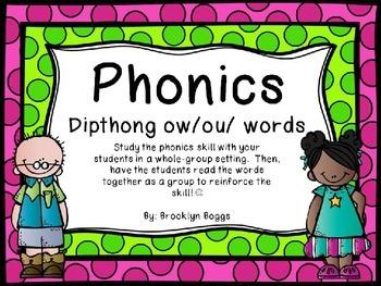 Phonics Powerpoint - Dipthong ow/ou/