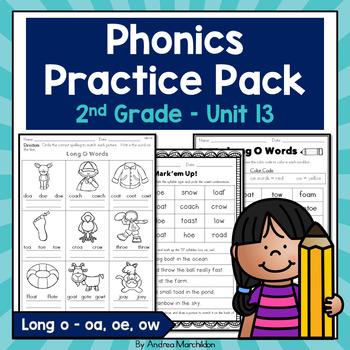 Phonics Practice Pack Unit 13 - Second Grade Long O Sounds