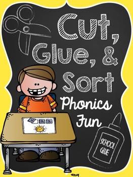 Phonics Print and Go: Cut, Sort, and Glue