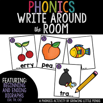 Phonics Read/Write Around the Room: Beginning and Ending D