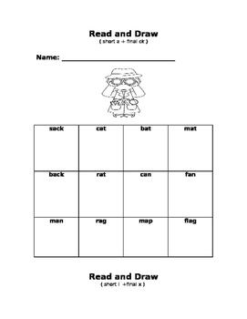Phonics Read and Draw Unit 1