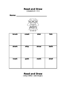 Phonics Read and Draw Unit 2
