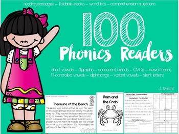 Phonics Readers ( foldable books, passages, word lists, co