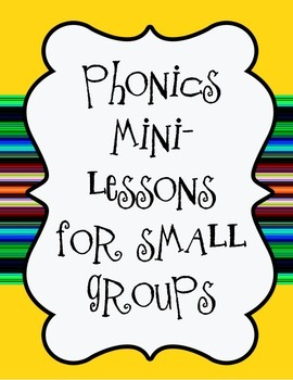 Phonics Remediation Small Group Assessments Teaching Chart