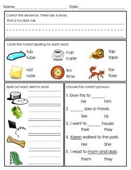 Phonics and Grammar Quick Check