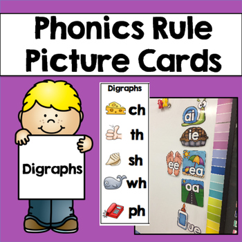 Phonics Rule Picture Cards & Bookmarks: Digraphs