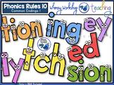 Phonics Rules 10 Clip Art (Common Endings)